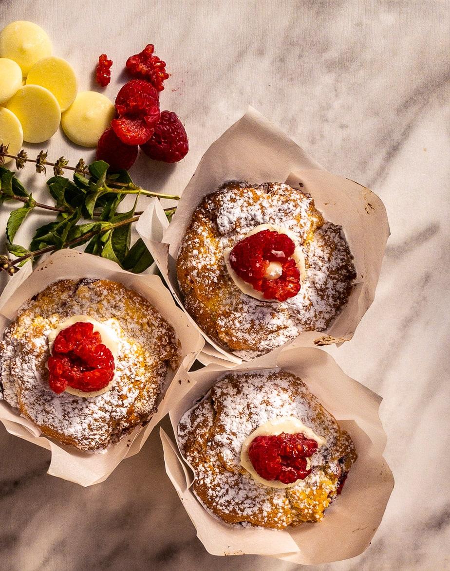 Muffins – Raspberry White Choc (V)